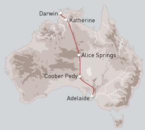De Adelaïde à Darwin en train