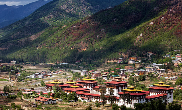thimphou capitale du bhoutan